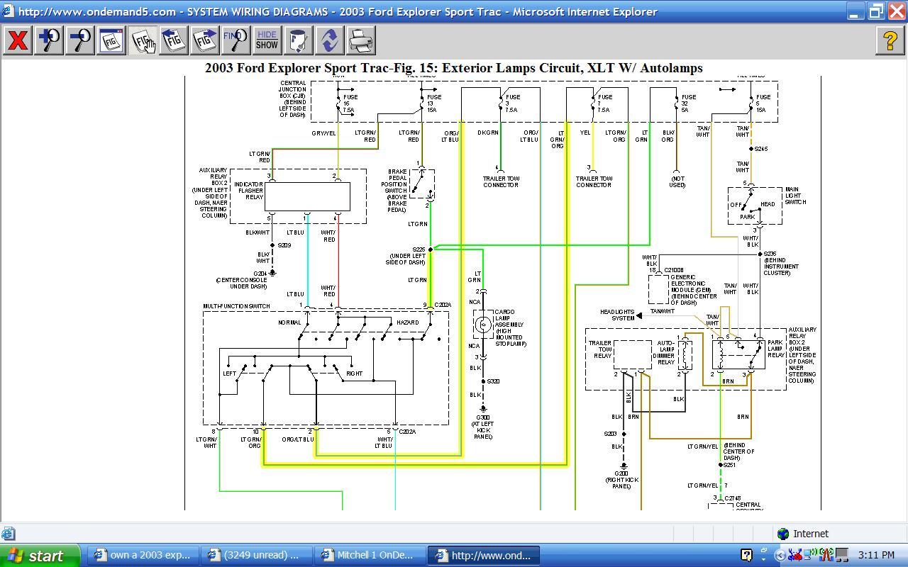 2008 ford explorer xlt wiring diagram own a 2003 explorer sprt trac xlt, the break lights do not ...