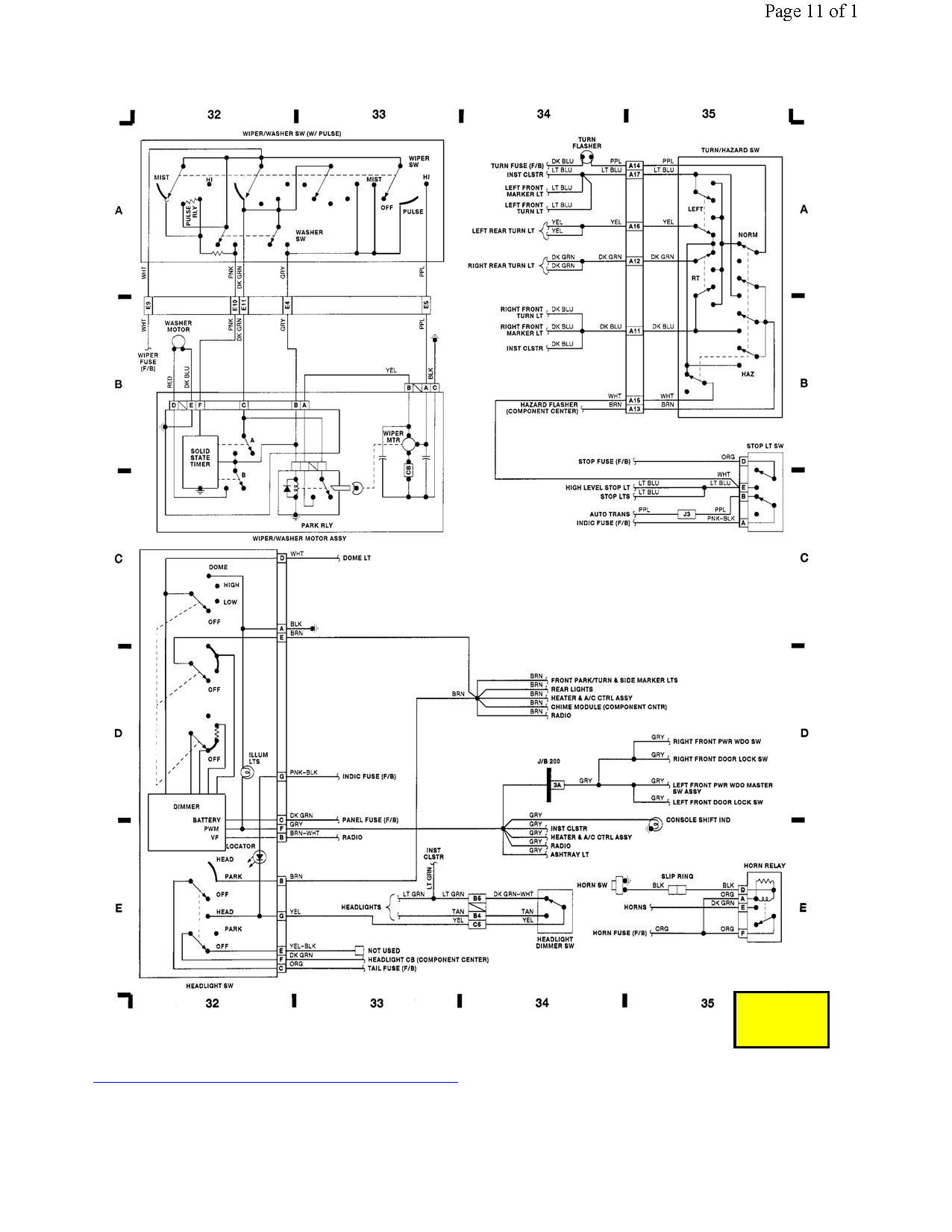 Looking For The Wiring Diagram For A 1991 Lumina Steering Column With Cruise
