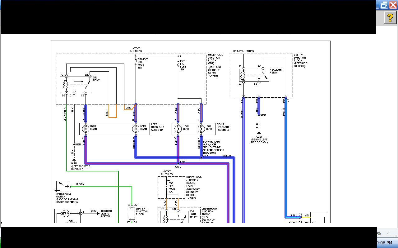 2003 Monte Carlo Starter Wiring Diagram Diagrams Chevy Stereo Ss Low High Beams Do Not Turn On When Radio Chevrolet