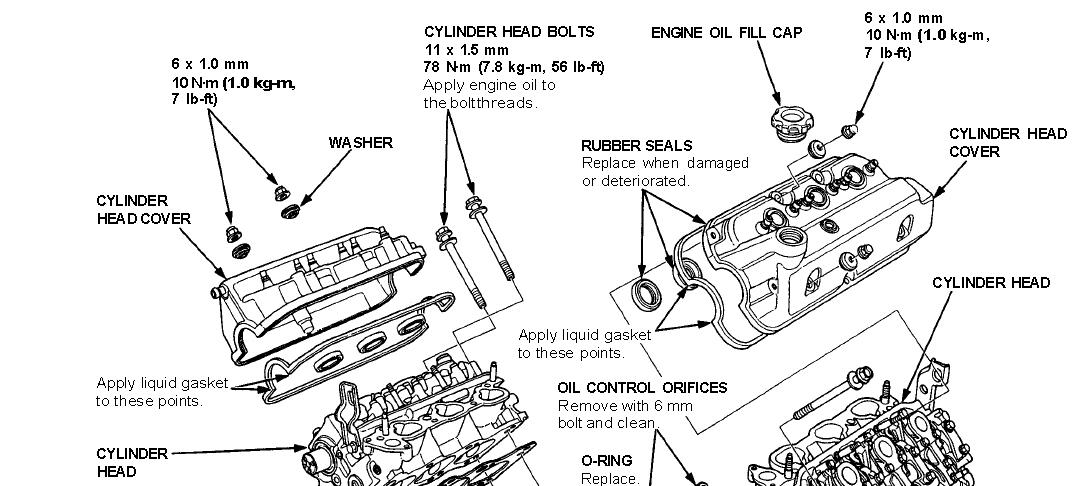 1992 acura legend head bolt removal diagram