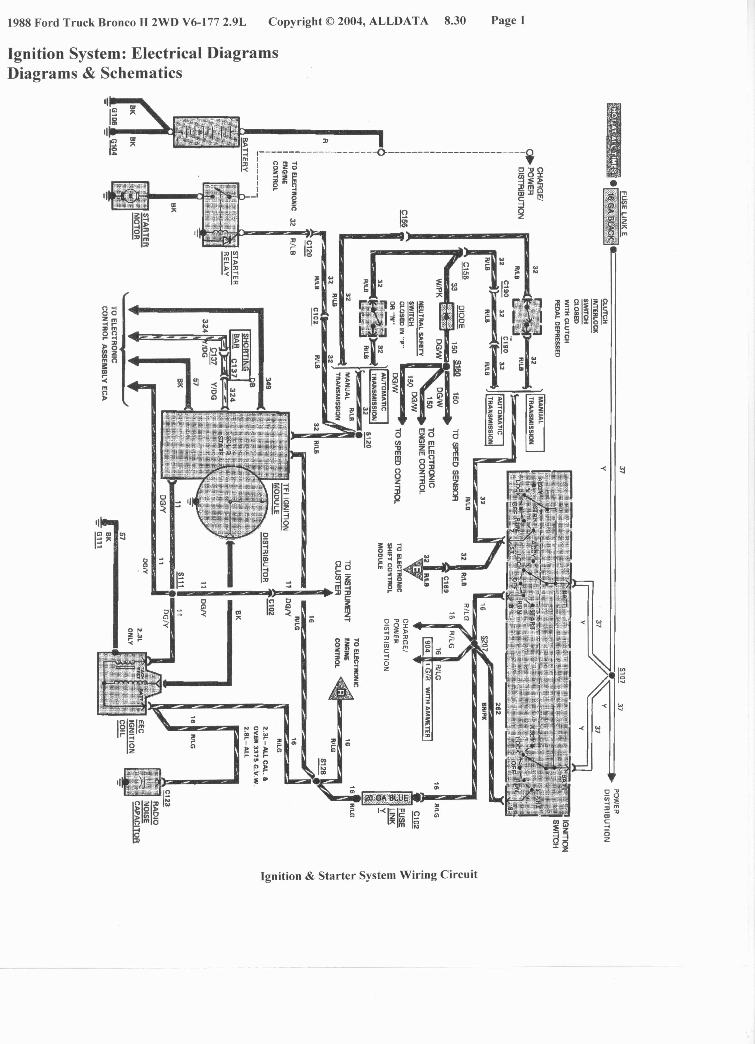 Electronic Ignition Wiring Diagram 86 Ford Ranger