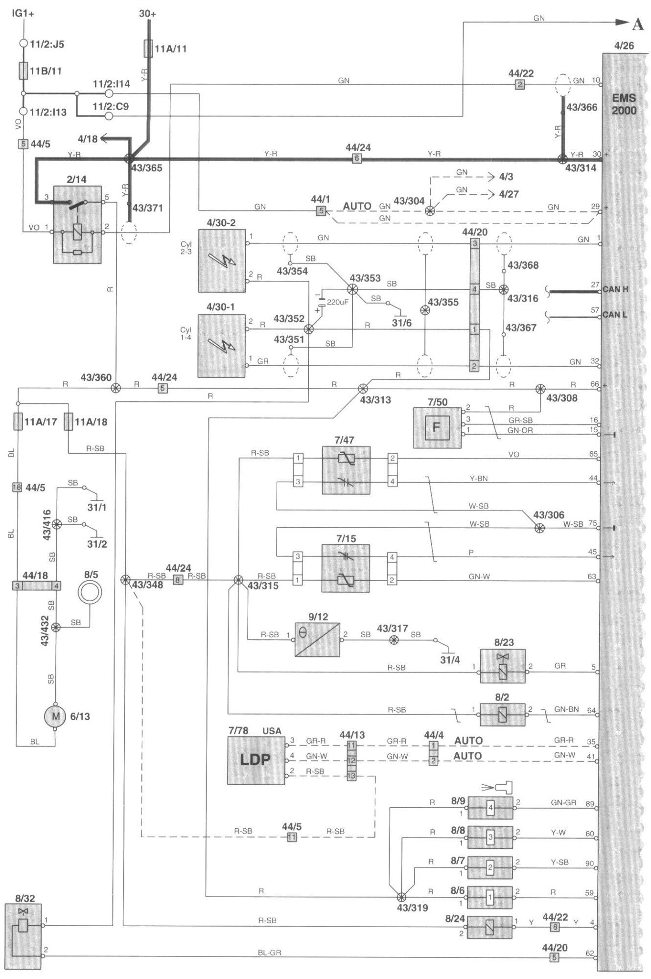 2002 Volvo S40 Check Engine Light On  Po036 Code Bank 2