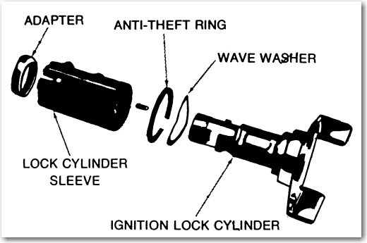 how can i get an ignition lock cylinder out of a 1969