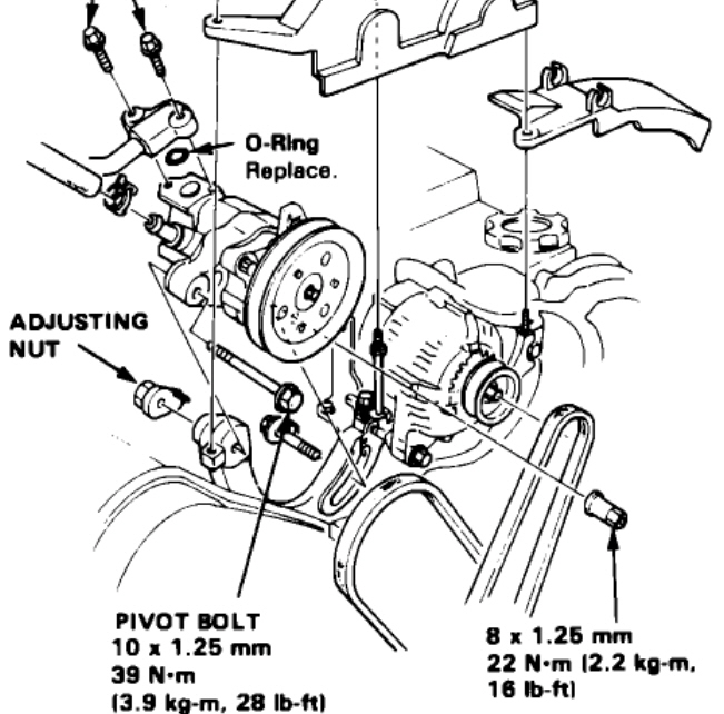 How To Replace The Power Steering Belt In A 1990 Acura