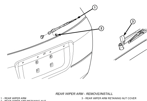 How do i re attach my rear window wiper on my 39 04 pacifica for 04 pacifica window regulator
