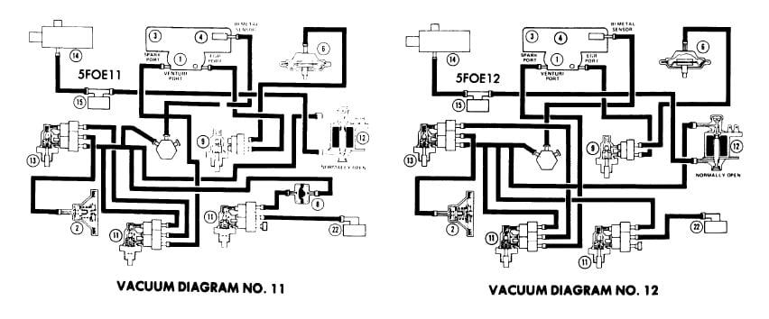 vacuum hose diagram   emission controls  1975 ford f250