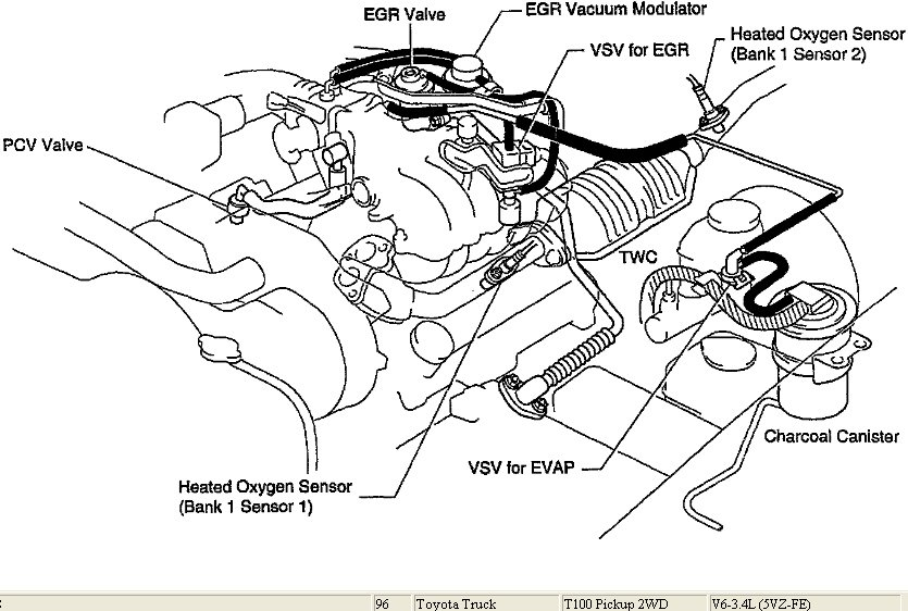 service manual  how to reroute vacuum lines on a 1996