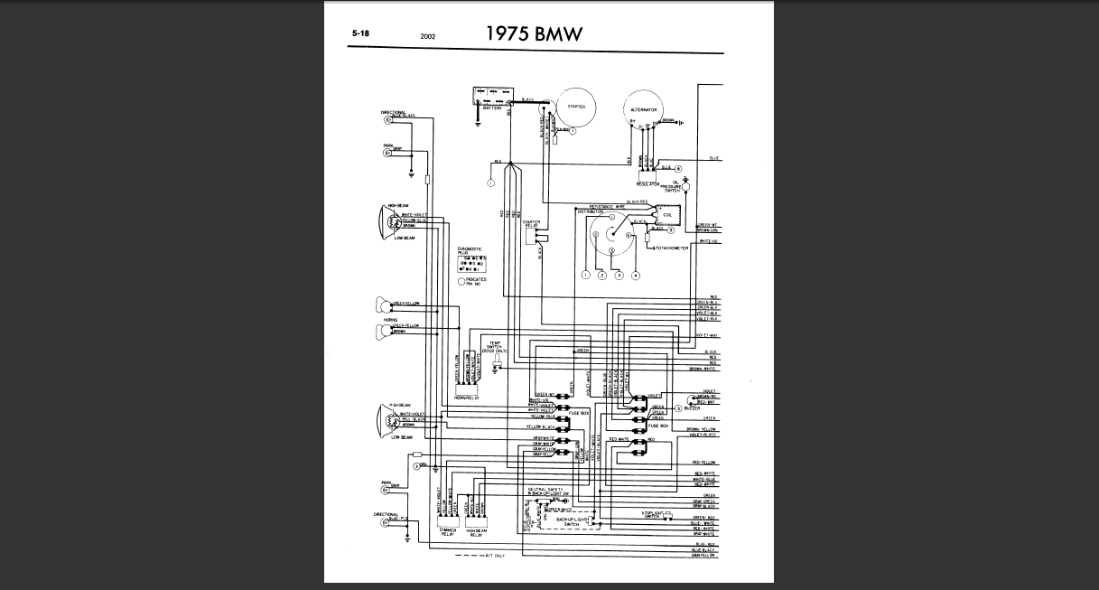 i have installed the wiring from a 75 bmw 2002 into my 72 ... wiring diagram bmw x5 e53 1973 wiring diagram bmw 2002