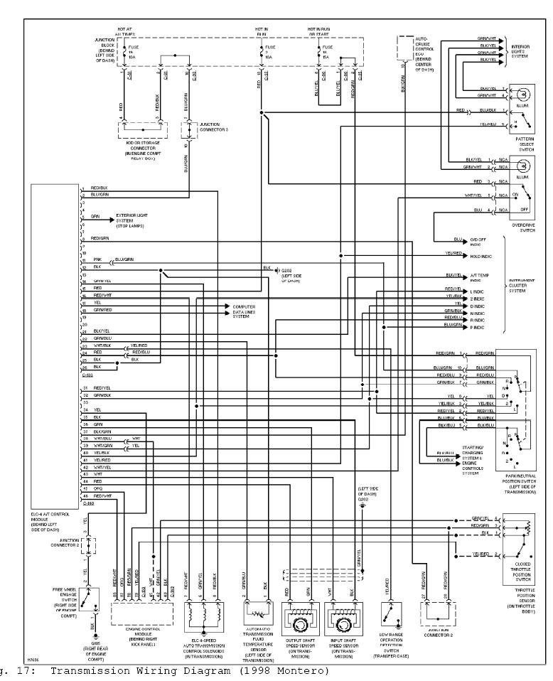 Diagram  Mitsubishi Pajero Wiring Schematic Engine