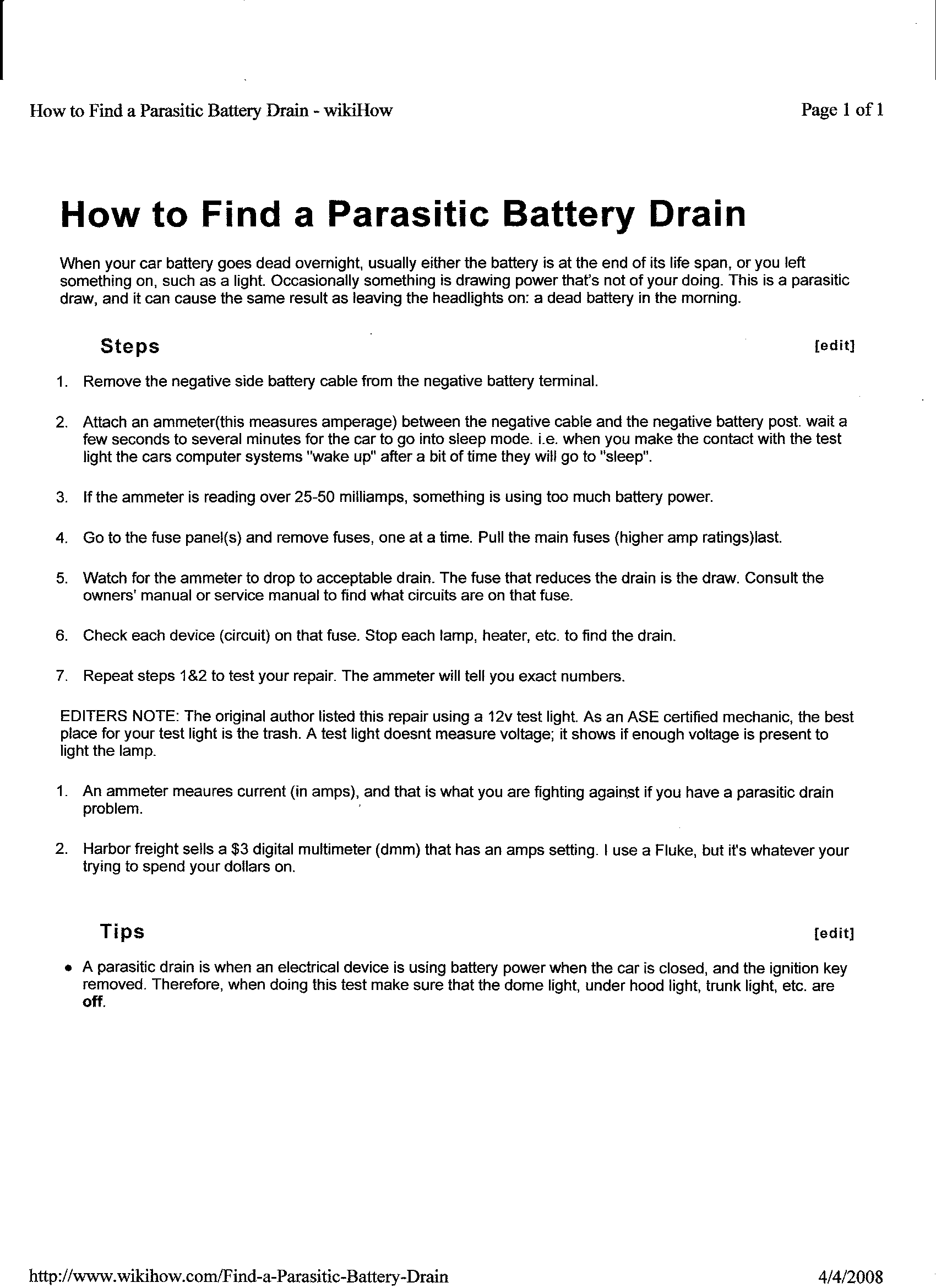 How To Check For Parasitic Draw Pulsar Fuse Box Find Shorted Circuits And Bench Test Equipment Quickly Safely 9001 Master Kit Provides 5 Additional