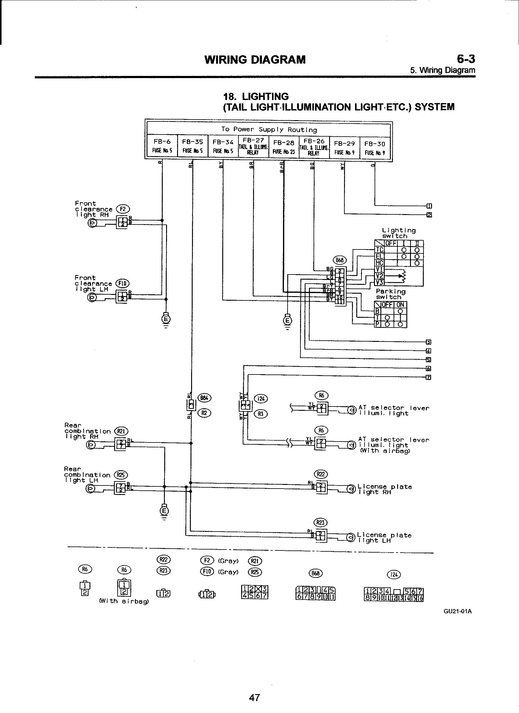 I Need An Electrical Diagram For A 1993 Subaru Impreza