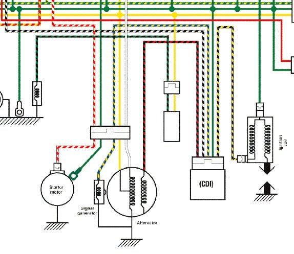 i got honda bali 50 cc 2 storke ineed to change cdi unit it basic honda wiring colors
