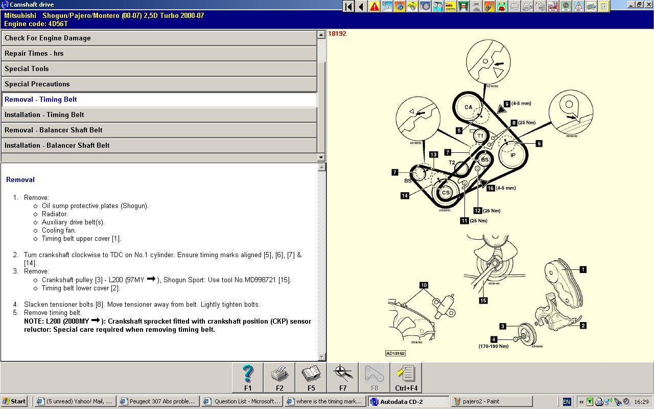 4hg1 Engine Timing Diagram