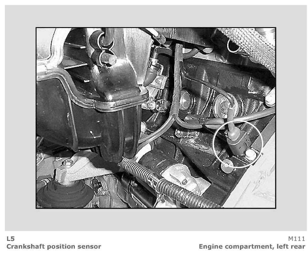 Where Is The Crank Sensor In A Mercedes C320 2001