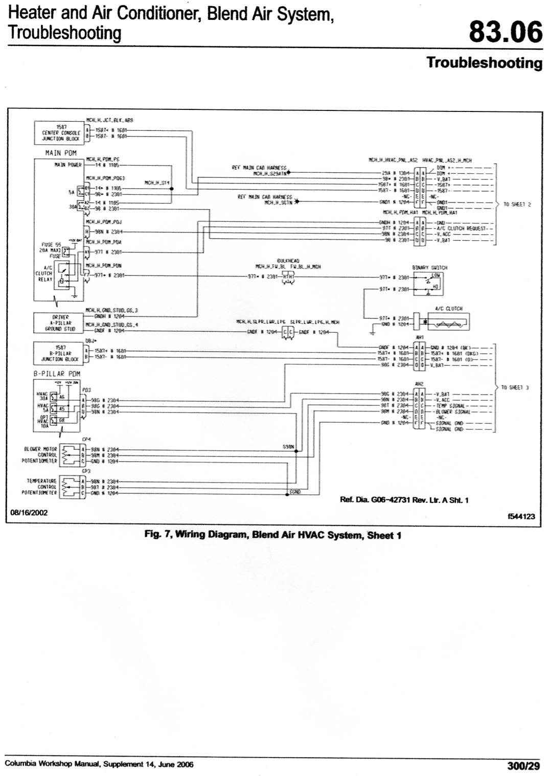 2006 freightliner columbia dash blower quit tried testing changing it works on hz signal what all have you checked or replaced also are you getting any faults on your dash display here is wiring diagram for front control