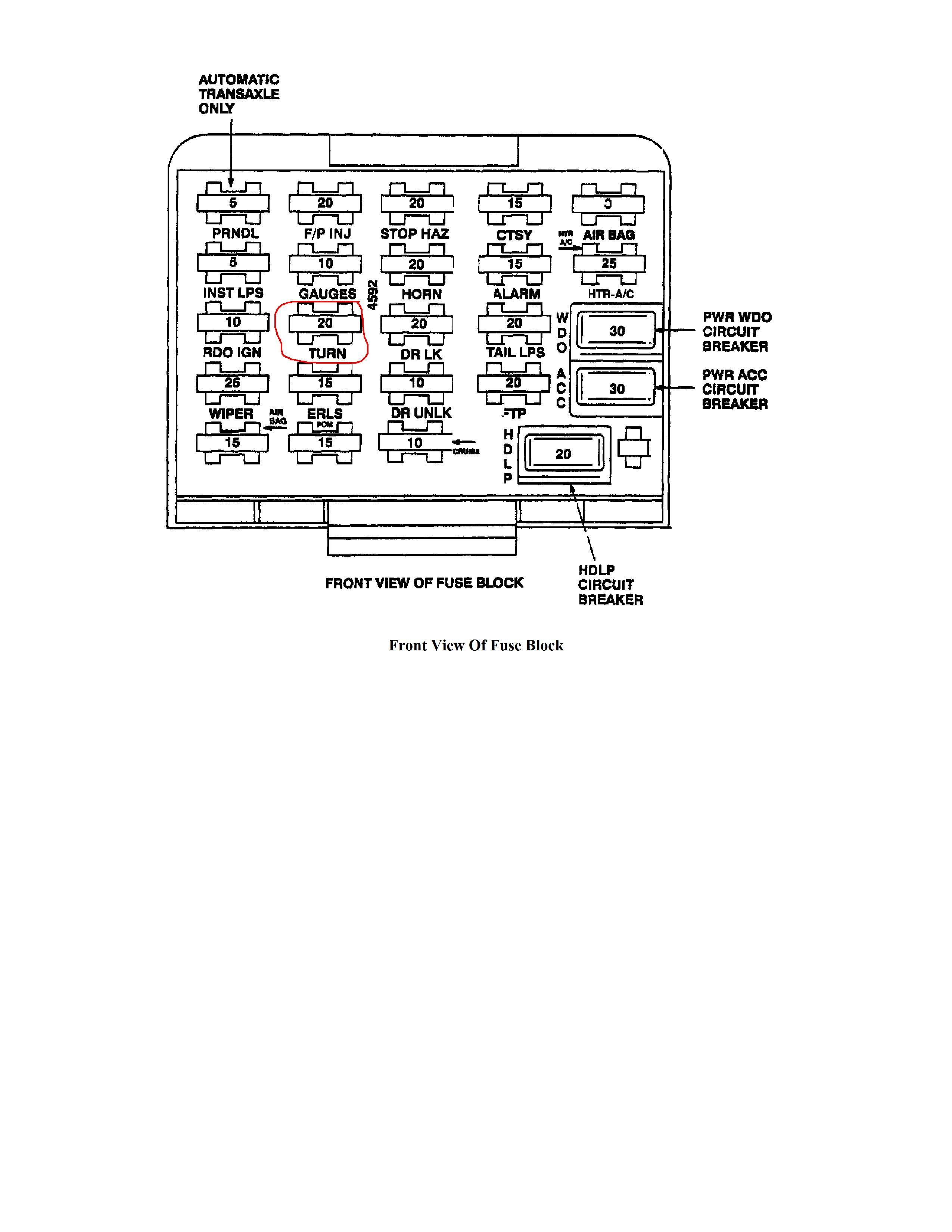fuse diagram 95 grand prix