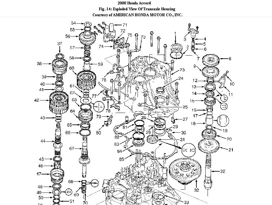 2000 Honda Accord V6 Transmission Problems