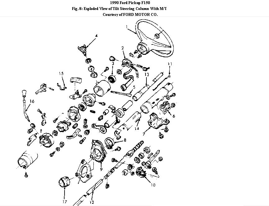 1990 Ford F250 Steering Column Tilt  Need A Good Internal