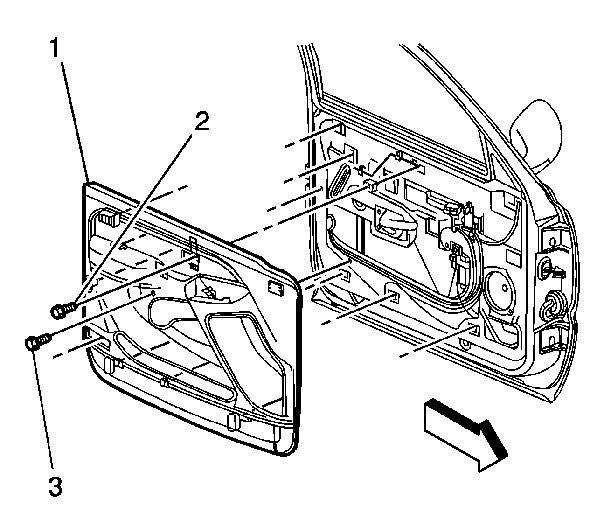 service manual    remove door panel driver side
