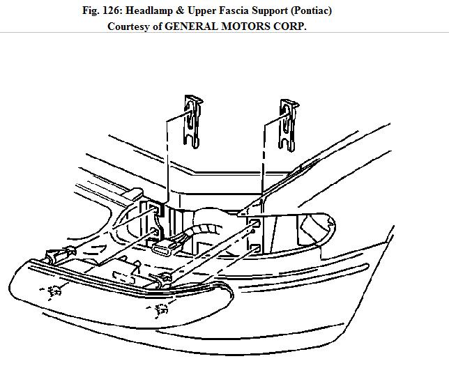 service manual  remove assembly headlight 2004 pontiac