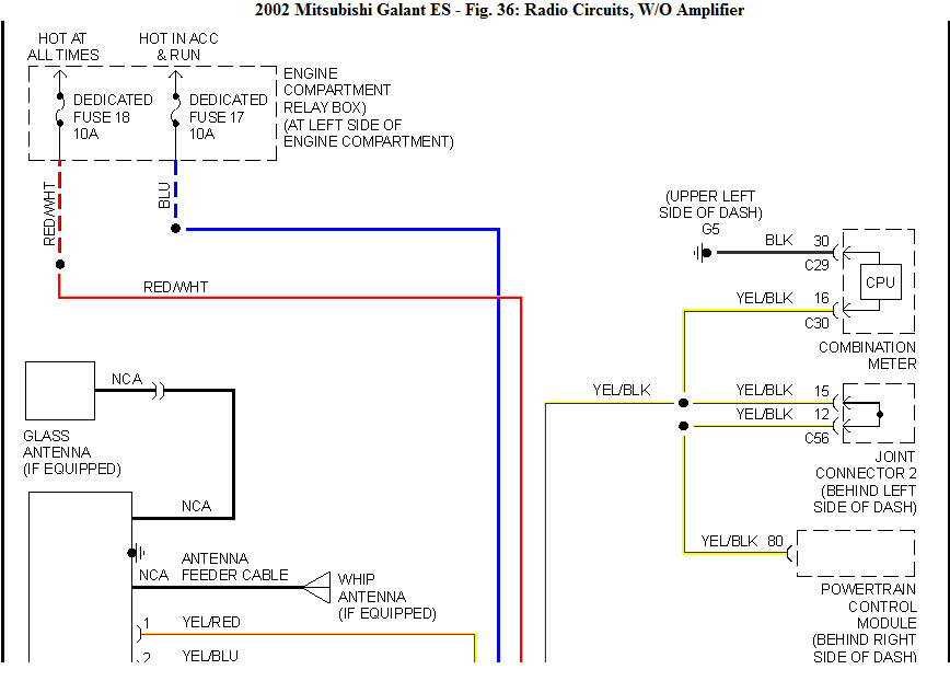I Need The Wiring Diagram For A Cd Player On A 02 Mitsubishi Galant  I Dont Know What The