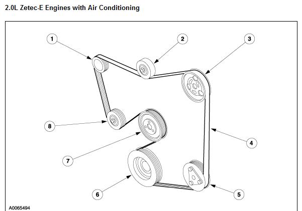 2007 ford focus 2 0 serpentine belt diagram
