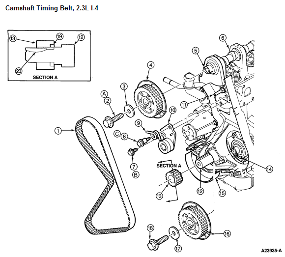 service manual  how to replace timing belt on a 1995 geo