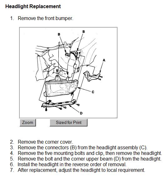 How To Remove Headlight Assembly On 2006 Honda Ridgeline