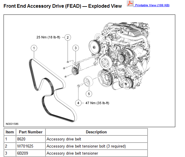 Need Diagram For Serpentine Belt Install On Forf Freestar