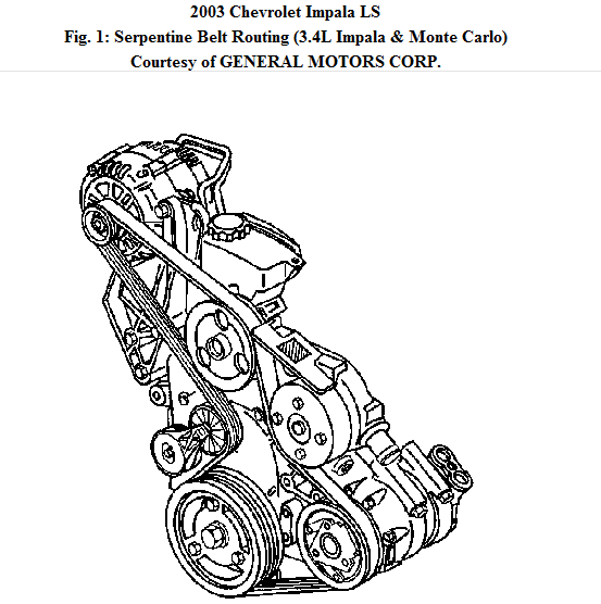2003 Chevy Malibu Ls Fan Belt Broke Need Diagram To Put