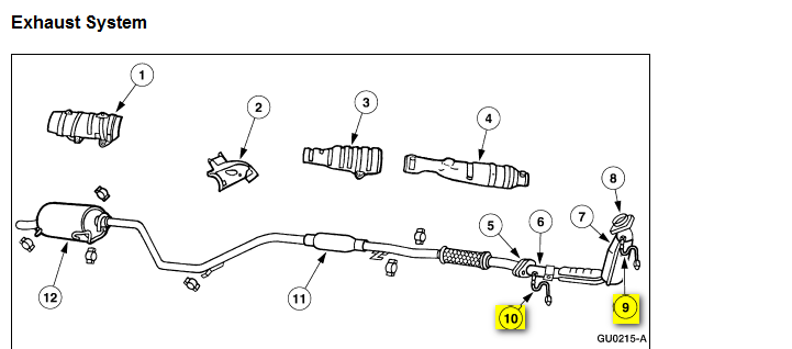 where can i find the oxygen sensors on a 2000 ford zx2  is