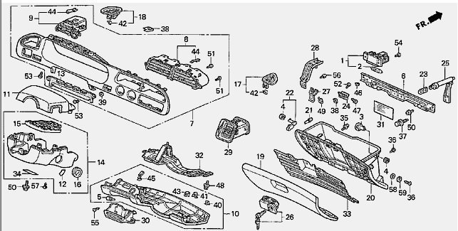 service manual  1995 honda accord dash removal for a dummies