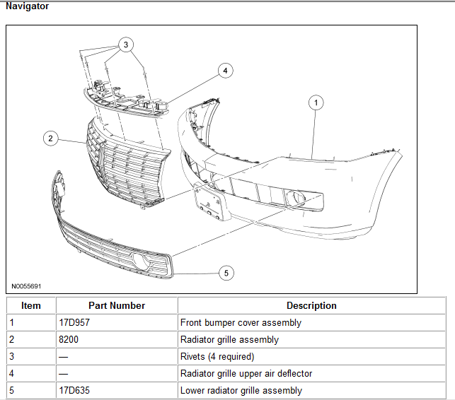 A on 2008 Lincoln Mkz Parts Diagram