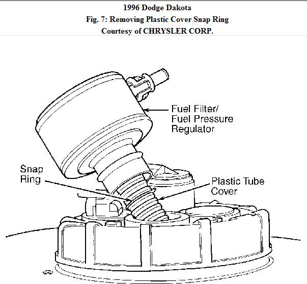 1996 Dodge Stratus Fuel Filter Location