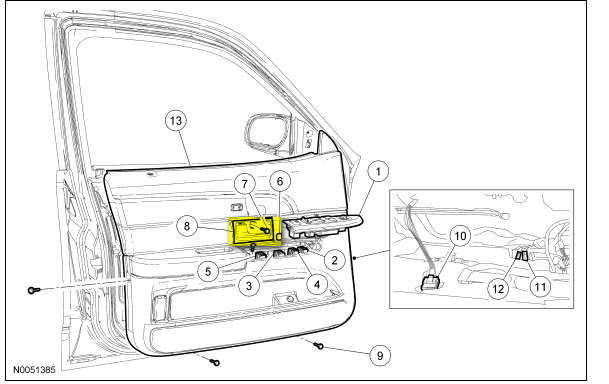 how to remove door trim panel on a 2004 crown vic