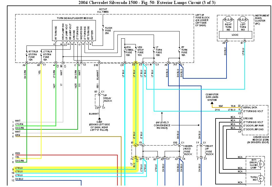 i have a 2004 chev. silverado half ton and the brake ... 2004 chevy avalanche tail light wiring diagram chevy suburban tail light wiring diagram #13