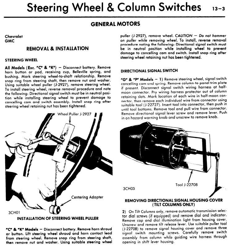 1975 chevy bulbs tail lights brake lights pull the steering wheel turnsignal1
