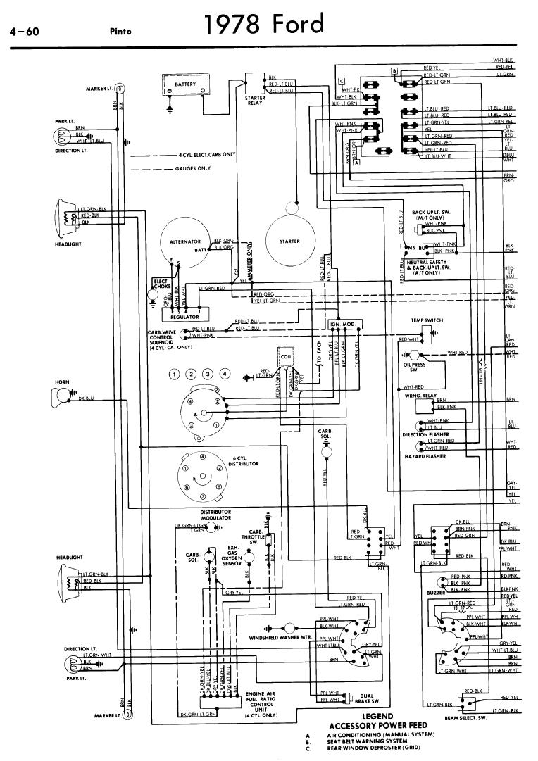 1976 ford pinto ignition coil wiring diagram