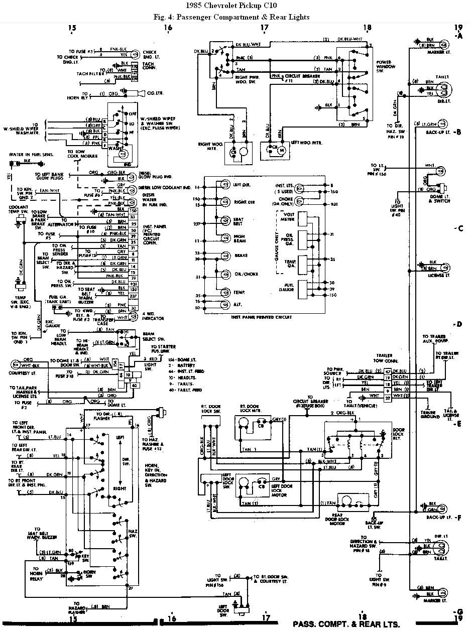 my 85' chevy pickup's (c10) right rear turn signal/ brake ... tail light wiring diagram 1963 chevy c 10