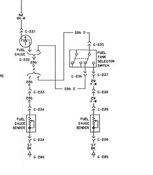 i would like to get a wiring diagram for a 1975 ford f350 the way the system will work there will be 1 wire from each tank sending unit going to the switch then 1 wire will go from the switch to the gage