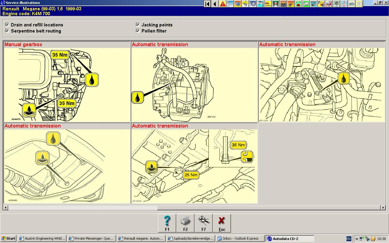 Renault Megane  Automatic Transmission Problem  V Reg