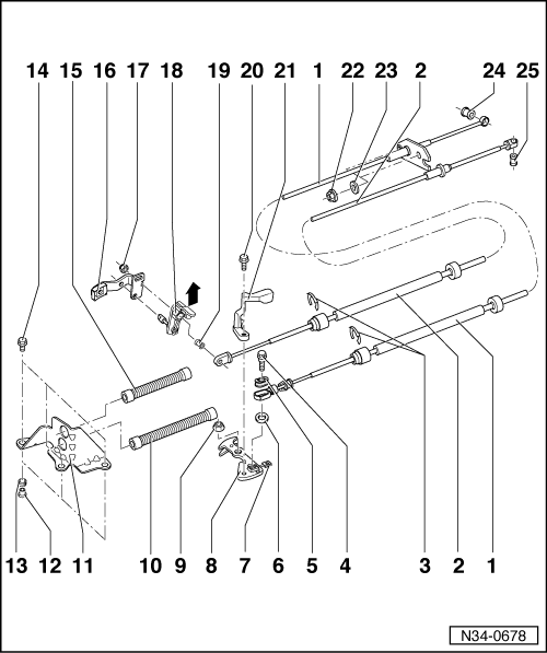1998 VW Jetta TDI, Shift Bracket Under The Hood At The Trans Is Broken Has A Large Counter