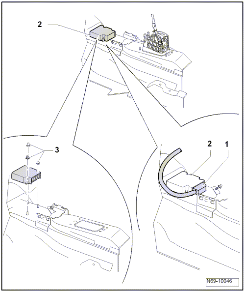 where is the air bag control module located on a 2007 jetta  i also understand the module can