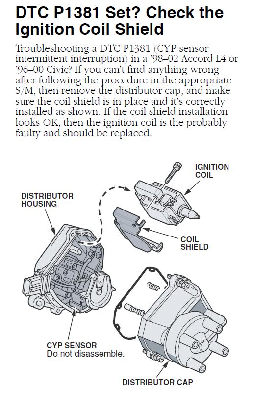 honda accord cyl  vtecmy check engine light   randomly  misfiring