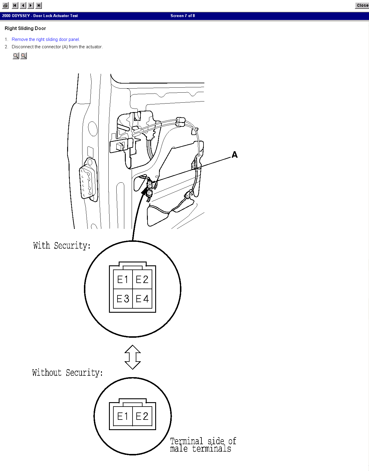 Power door locks start out operating fine but fade out for 06 honda odyssey sliding door