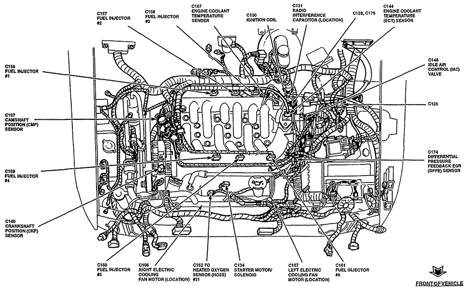 99 ford ranger engine diagram 99 pontiac sunfire engine