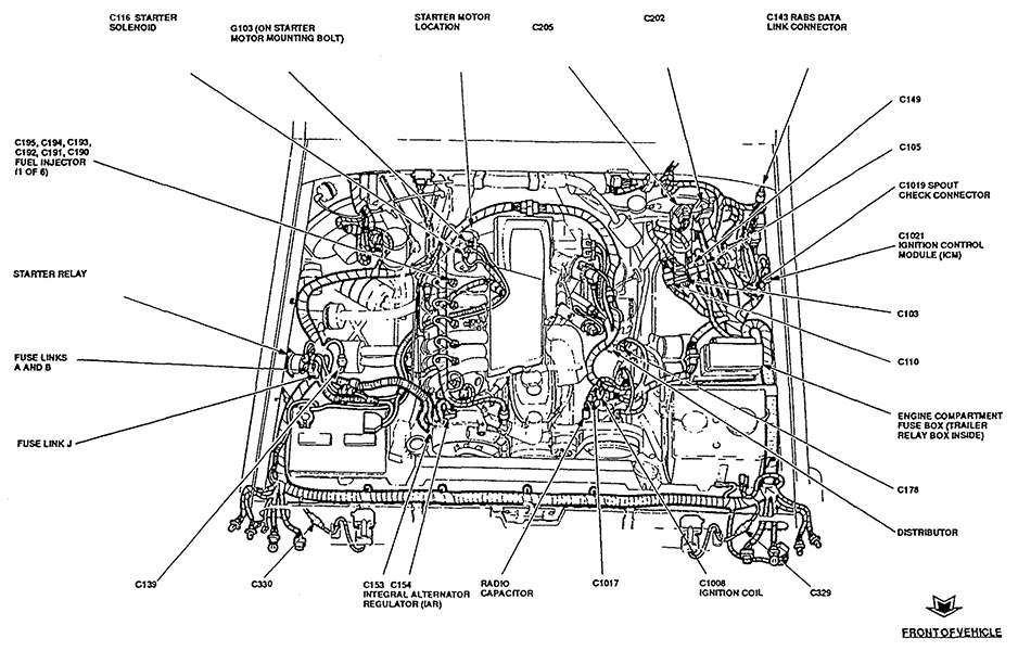 where is the location of the ignition control module on a