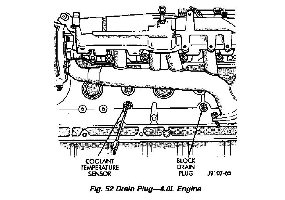 2009 jeep wrangler cooling system diagram