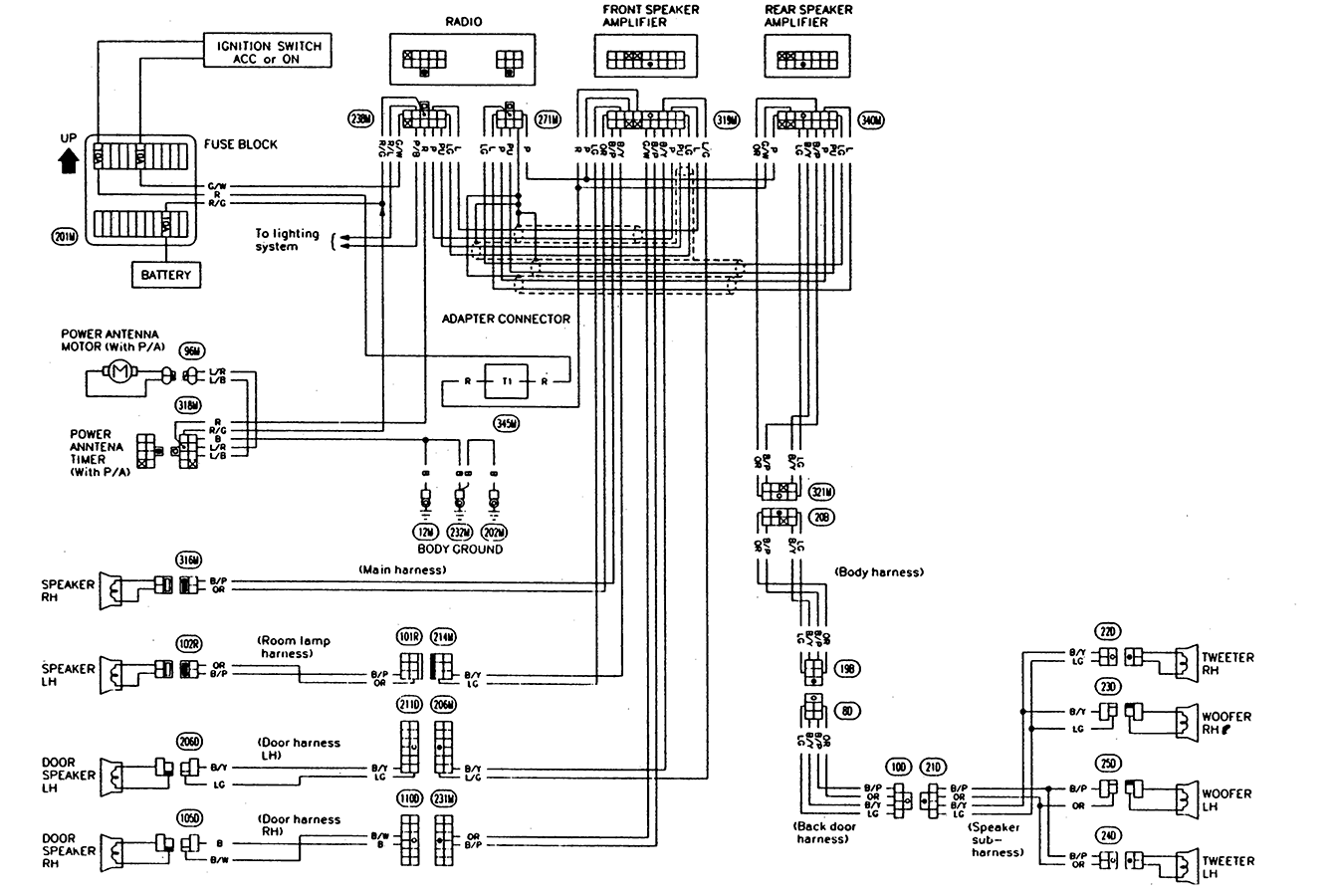 93 pathfinder factory stereo wiring diagram