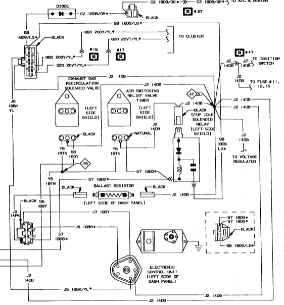 1987 ramcharger no spark has new dual point dist coil ign diagram